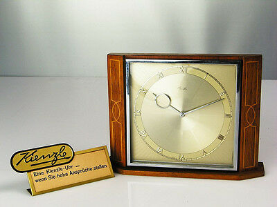 ART DECO BAUHAUS WOOD DESK CLOCK HEINRICH MOELLER  KIENZLE GERMANY