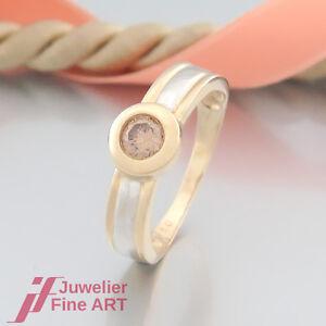 Ring-Solitär- Ring mit 1 Brillant(Diamant) 0,50ct - 14K/585 Gelbgold-Weißgold - Deutschland - Ring-Solitär- Ring mit 1 Brillant(Diamant) 0,50ct - 14K/585 Gelbgold-Weißgold - Deutschland