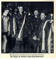 Amerikaner Mac Farland u. Moran Sieger im Berliner Radrennen Bilddokument v.1909