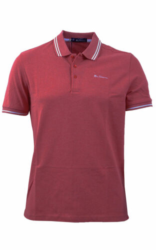 Mens Ben Sherman Script Tipped Polo Shirt Rose 48520