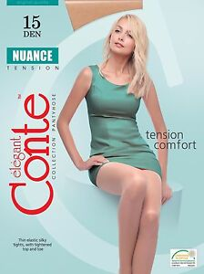 CONTE-Tights-Nuance-15-Den-Matte-Pantyhose-Without-Gusset-FREE-Shipping