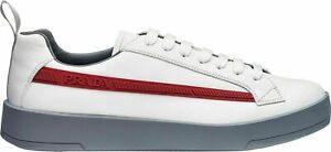 Prada Iconic Vitello PLUME Mens Trainers Sneakers Shoes Schuhe Turnschuhe Neu 42