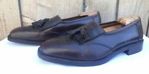 Brooks-Brothers-Men-039-s-Brown-Wing-Tip-Kiltie-Tassel-Dress-Loafers-US-11-5-Italy
