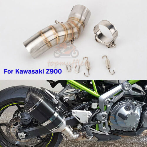 For Kawasaki Z900 Slip On Motorcycle 51mm Exhaust Middle Pipe Muffler Link Tube