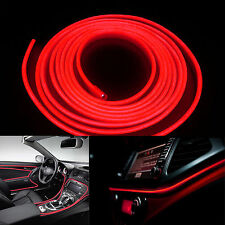 Car Cold Light Red Lamp Strip Atmosphere Interior Decorative Trim 2M For Acura