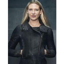 New Olivia Palermo Napoleon Military Style Black Women Leather Jacket