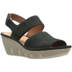 0cadb71f97f Womens BN Clarks Clarene Allure Womens Wide Wedge Heel Sandals SIZE ...
