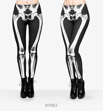 LEGGINGS MUJER X-RAY SKELETON ESQUELETO HUESOS BONES BLACK WHITE WOMEN LEGGINS