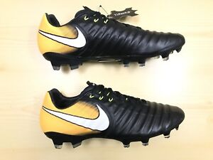 b09174229 Nike Tiempo Legacy III FG -NEW Boots Orange White Low (897748-008 ...