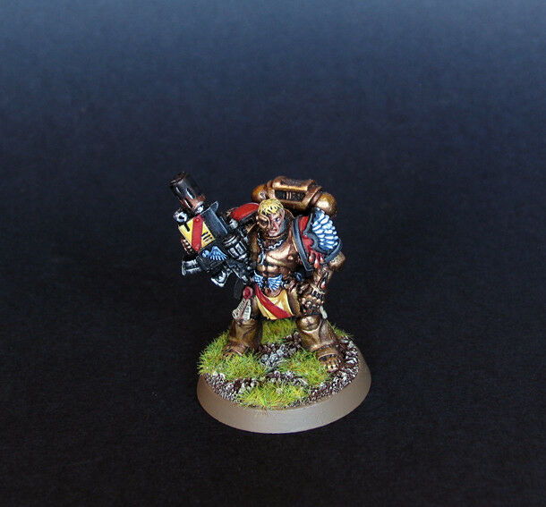 Pro painted Warhammer 40k Blood Angels Captain Tycho miniature