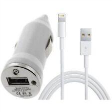 Cargador Coche 2 en 1 mechero Mini + cable para Iphone 6/6Plus 8 Pin blanco