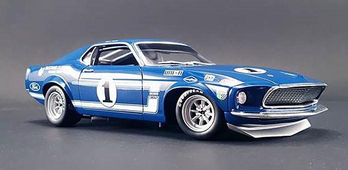 Acme 1969 Boss 302 Trans Am Mustang #1 #1 #1 Sam Posey Lime Rock winner 1/18 | Merveilleux  38a70a