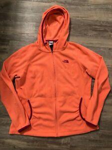 The-North-Face-Fleece-Jacket-size-Large-Orange-Zipup-Sweater
