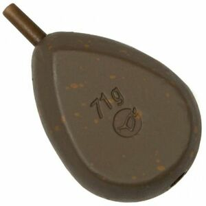 Angelsport Pack of 10 Korda Pear Swivel Lead Weights 1.1oz/1.5oz/2oz/2.5oz/3oz/3.5oz Bleie