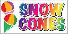 2x4 ft Vinyl Banner Concession Sign New - SNOW CONES wb