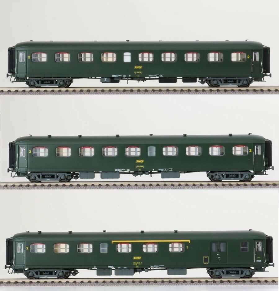 LS modellos h0 40199 Set 3x SNCF personenwag Nord Express 1. 2.kl. verde ep4a NUOVO