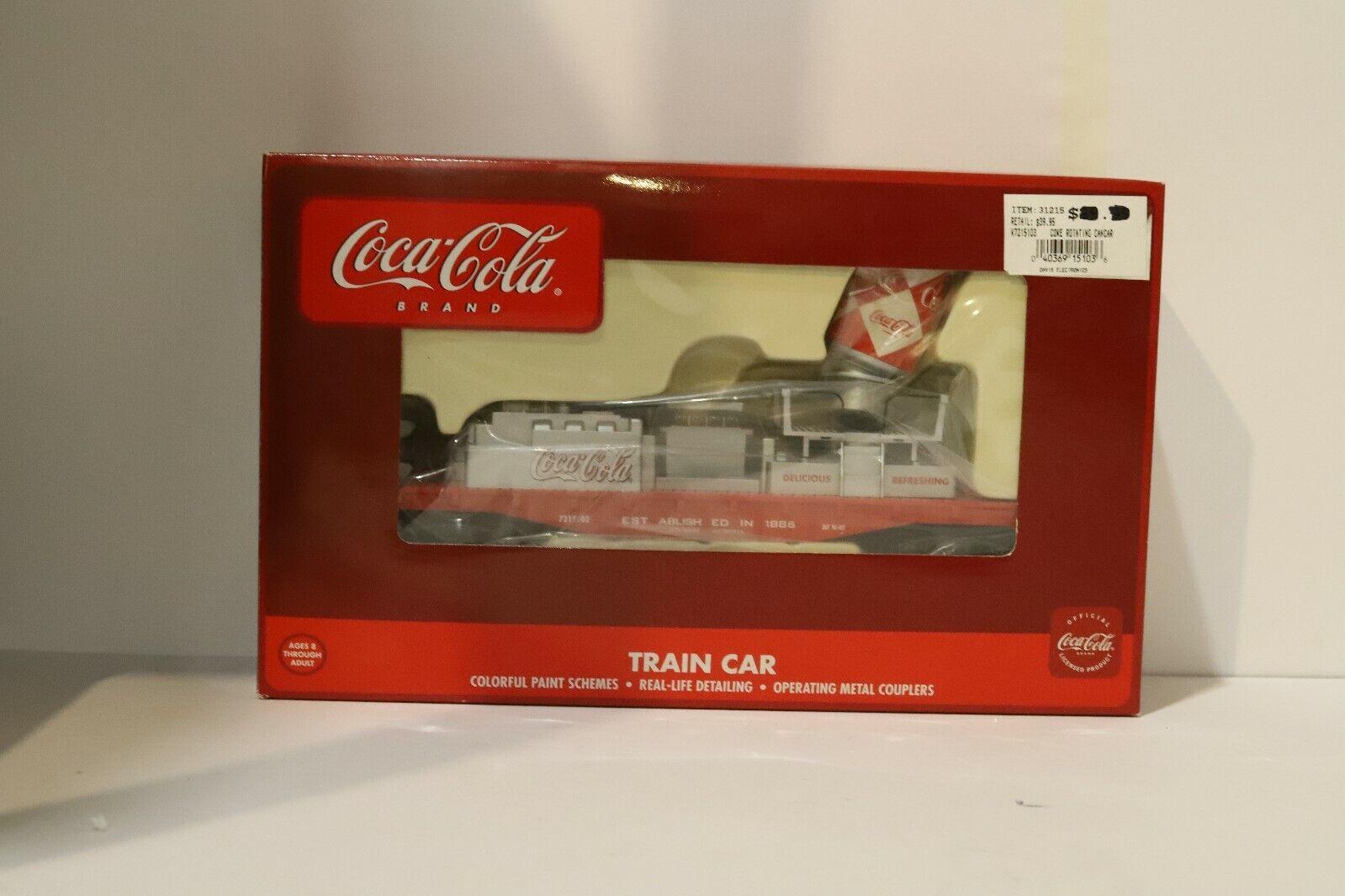 K-Line K721-5103 Coca Cola Operating Rotating Can Car O Gauge w Free ship