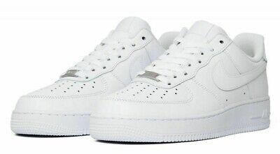 Nike Air Force 1 One 07' tout Blanc de Jeunes Hommes bas Chaussures en cuir AF1 315122 111 DS | eBay