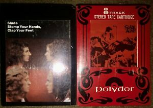 2-SEALED-NEW-UNOPENED-SLADE-8-TRACK-TAPES-STOMP-YOUR-HANDS-CLAP-YOUR-FEET-ALIVE