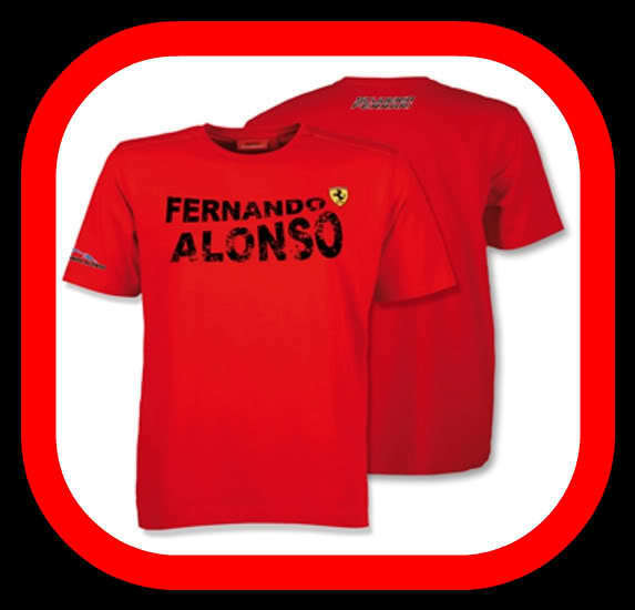 FERRARI Camiseta Producto Oficial ALONSO talla S
