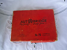 For Parts Vintage 1957 Autobridge Auto Bridge Game Deluxe Pocket Mod PB w/ Guide