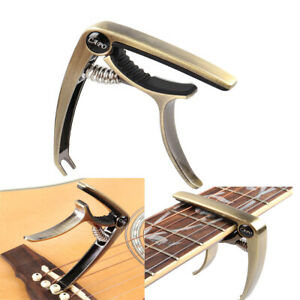Alloy-Handed-Quick-Change-Electric-Acoustic-6-string-Guitar-Capo-with-Pin-Puller