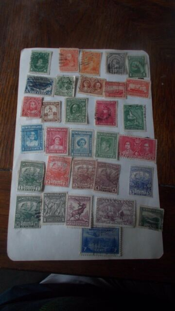 NEWFOUNDLAND  NICE  STAMP COLLECTION 20 different mint & used. Cat. about 80.