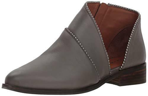 Lucky Brand Women's Prucella Ankle Boot Titanium Grey Cut Out Low Ankle Bootie