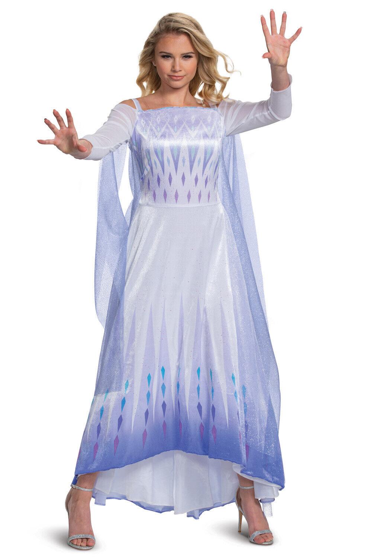 Debispax Elsa Princess Cosplay Costume Snow Queen Party Halloween Dress for Girls