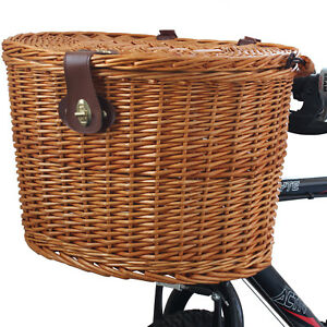 WICKER-BICYCLE-FRONT-PICNIC-BASKET-WITH-LID-amp-CARRY-HANDLE-SHOPPING-BIKE-CYCLE