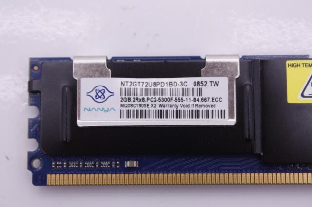 LOT OF 4 NANYA 2GB  667MHZ DDR2 ECC SERVER RAM NT2GT72U4NB1BN-3C PC2-5300F