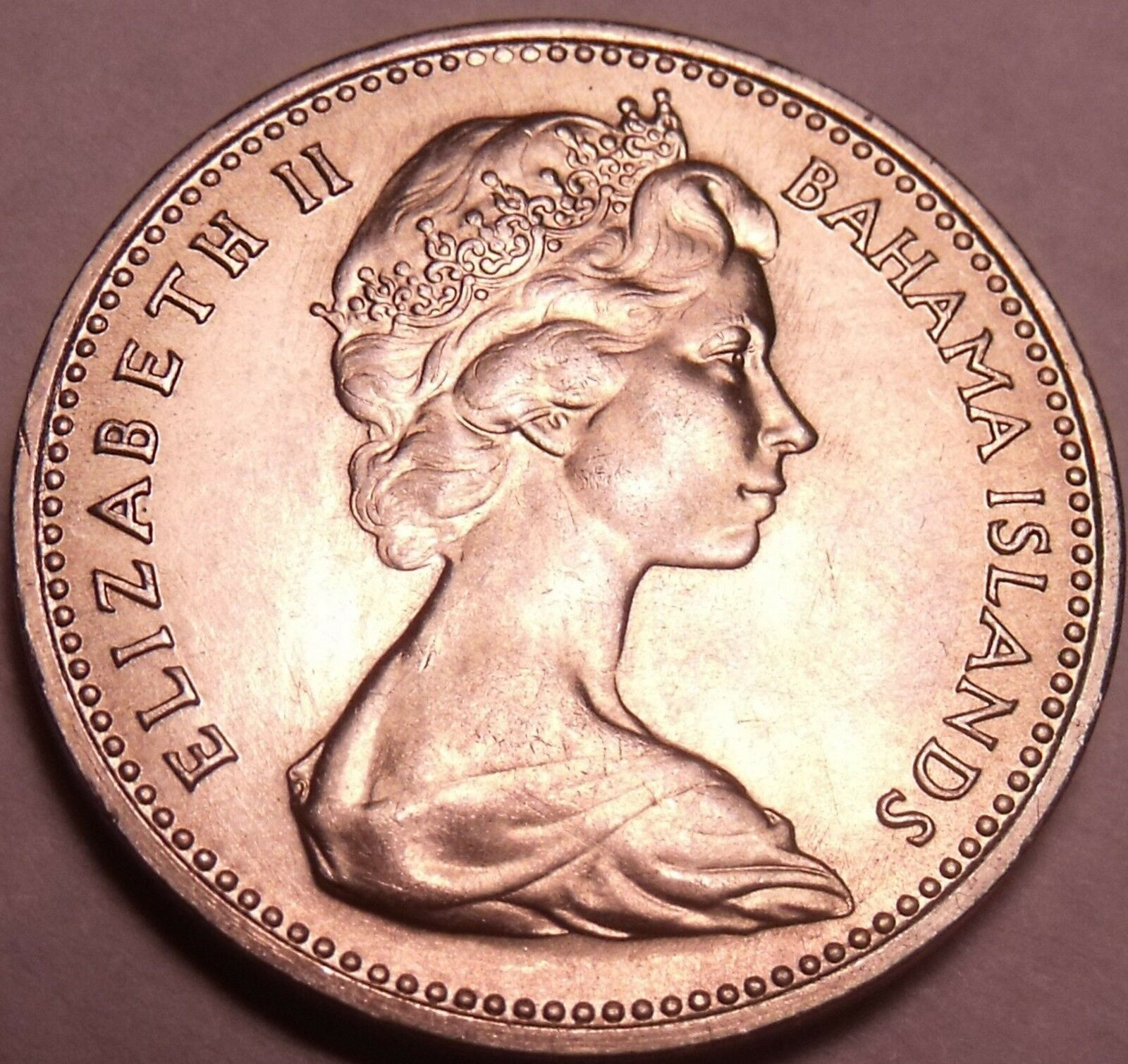 Unc Bahamas 1966 5 Cents~Pineapple~1st Year For Bahama Coinage~Free Shipping