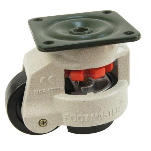 55056 4 PEZZI Set Rotante Resistente Macchina Livellamento Rotelle Ruote 40