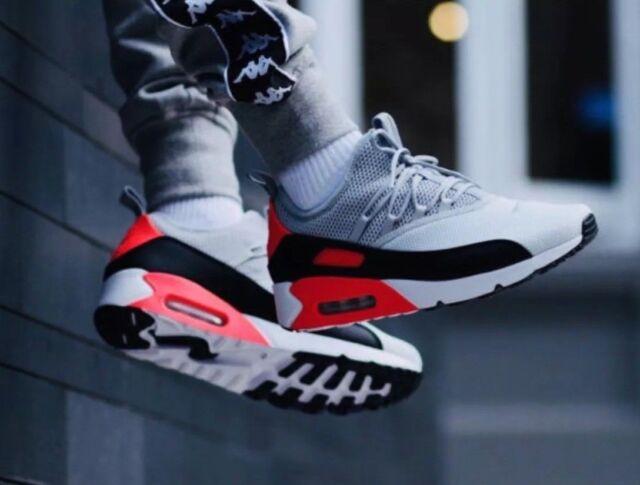 9bbe12993bcb5 Nike Air Max 90 Ez Chaussures Homme Gris Noir Rouge Pur Platinum (Ao1745  002)
