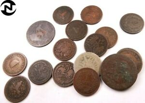 Part of History // Antique Money LOW GRADE Old World Coin 1 1700s 1800s