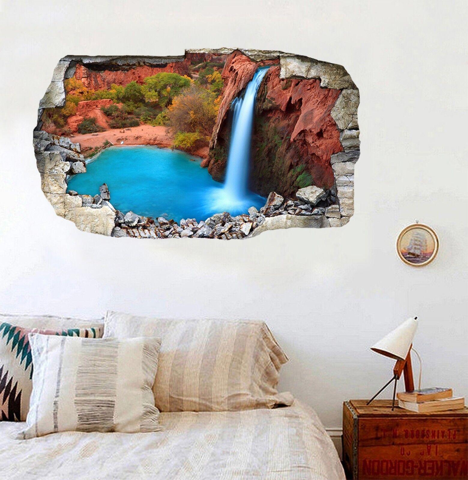 3D Havasu Wasserfall 1 Mauer Murals Mauer Aufklebe Decal Durchbruch WALLPAPER DE