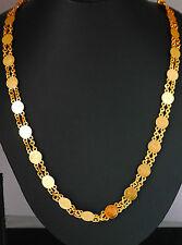 Chapado en Oro 22k Collar De Moda, Cadena, elegante Conjuntos Indio Asiático, Joyería U17