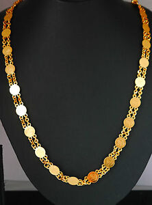 22k-Carat-gold-plated-chain-elegant-necklace-sets-fashion-JEWELRY-U17-28-in