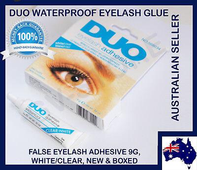 2x DUO Waterproof Eyelash Glue False Eyelash Adhesive, White Dries Invisibly