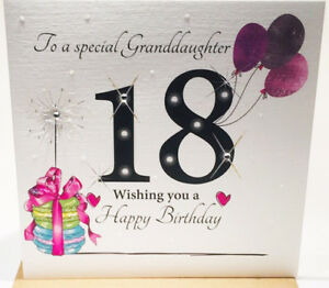 Image Is Loading 18th Birthday Card Granddaughter 6 X Inches