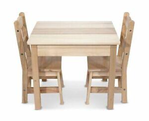 Prime Melissa Doug Kids Solid Wood Table Chairs Brown Inzonedesignstudio Interior Chair Design Inzonedesignstudiocom