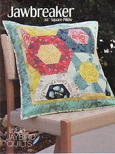 "Jawbreaker 20"" Pillow Quilt Pattern ~ Hexagons ~ uses Jaybird Hex N More ruler"