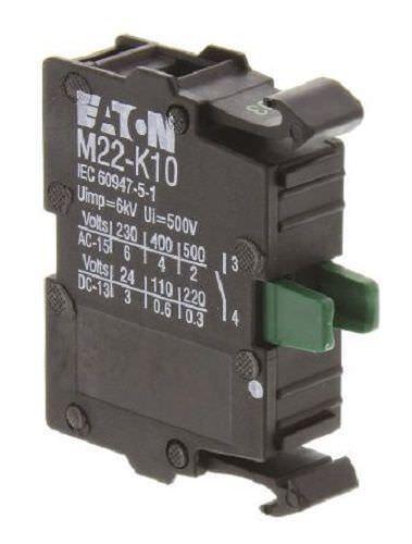 M22-K10 CONTACT BLOCK, 1NO, SCREW M22-K10 By EATON MOELLER ''UK COMPANY''