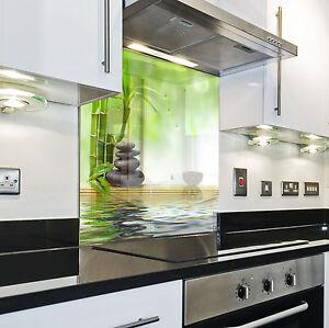 Splashback paraschizzi paraspruzzi rivestimento cucina foglia natura verde ebay - Rivestimento da parete cucina ...