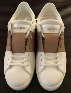 9d07e8d6a2 Image is loading New-Auth-Valentino-Garavani-White-Beige-Stripe-Sneakers-
