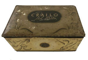 Tin-Crailo-Lid-Bits-New-York-Federal-Tin-Co-Baltimore-MD-Vintage-Antique
