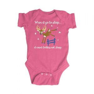 f1ce21a4f0d2d Don't Count Sheep Count Antlers Baby Infant Bodysuit - Pink Snap ...