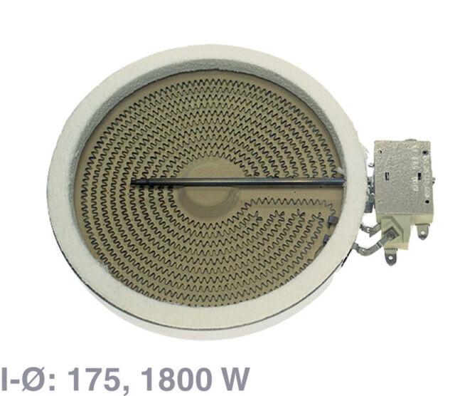 EGO Einkreis-HiLight-Heizkörper mit 1800 Watt/230 Volt, f. Glaskeramikkochfelder