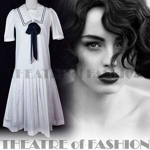 VINTAGE-LAURA-ASHLEY-SAILOR-DRESS-20s-FLAPPER-WEDDING-40s-30s-EDWARDIAN
