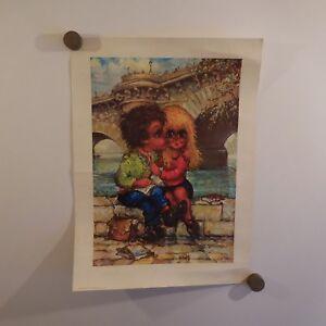 N2079-Poster-Michel-THOMAS-Le-premier-baiser-1975-Editions-KRISARTS-Paris-PN